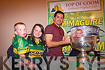 Chloe Hyde with Cian and Aideen O'Sullivan in the Sam Maguire in Top of Coom last Thursday night with Kerry footballer, Aidan O'Mahony.
