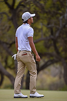 Satoshi Kodaira (JPN) reacts to barely missing his putt on 6  during day 3 of the World Golf Championships, Dell Match Play, Austin Country Club, Austin, Texas. 3/23/2018.<br /> Picture: Golffile | Ken Murray<br /> <br /> <br /> All photo usage must carry mandatory copyright credit (&copy; Golffile | Ken Murray)