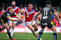 Picture by Alex Whitehead/SWpix.com - 12/03/2017 - Rugby League - Betfred Super League - Wakefield Trinity v Salford Red Devils - Beaumont Legal Stadium, Wakefield, England - Wakefield's Reece Lyne