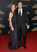 LOS ANGELES, CA. October 20, 2016: Jon Spaihts &amp; Johanna Watts at the world premiere of Marvel Studios' &quot;Doctor Strange&quot; at the El Capitan Theatre, Hollywood.<br /> Picture: Paul Smith/Featureflash/SilverHub 0208 004 5359/ 07711 972644 Editors@silverhubmedia.com