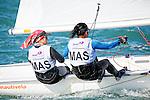 Malaysia420WomenCrewMASSN2Siti Nur FatihahNorulakhairi<br /> Malaysia420WomenHelmMASKM5Khairun hannaMohd Afendy<br /> Day2, 2015 Youth Sailing World Championships,<br /> Langkawi, Malaysia