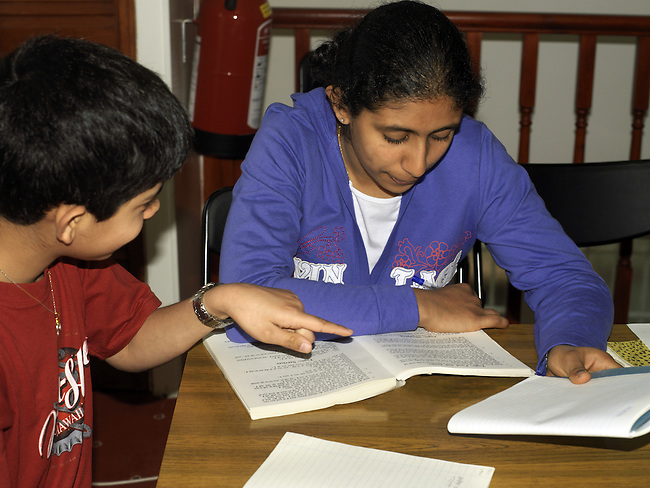 Indian Girl Aged 12 Studying