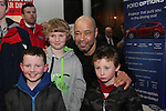 Paul McGrath with Adam, Luke and Cormac at the Launch of the Monster Car Draw in aid of the Gary Kelly Centre at Smiths Garage....Photo NEWSFILE/Jenny Matthews.
