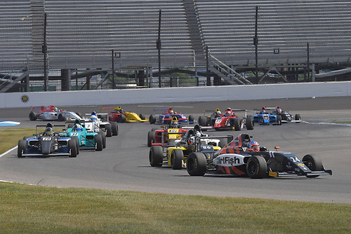 2017 F4 US Championship<br /> Rounds 4-5-6<br /> Indianapolis Motor Speedway, Speedway, IN, USA<br /> Sunday 11 June 2017<br /> #24 Benjamin Pedersen heads pack of cars<br /> World Copyright: Dan R. Boyd<br /> LAT Images