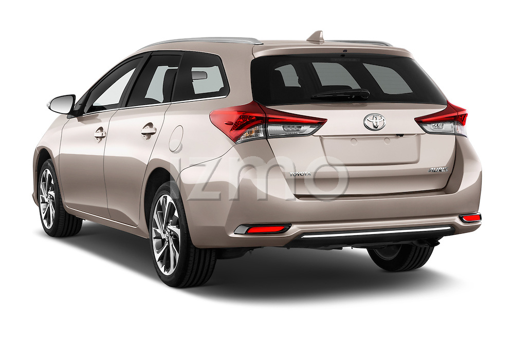 Car pictures of rear three quarter view of 2015 Toyota Auris Touring Sports Dynamic 5 Door Wagon Angular Rear