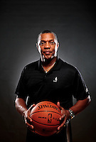 Dec. 16, 2011; Phoenix, AZ, USA; Phoenix Suns head coach Alvin Gentry poses for a portrait during media day at the US Airways Center. Mandatory Credit: Mark J. Rebilas-
