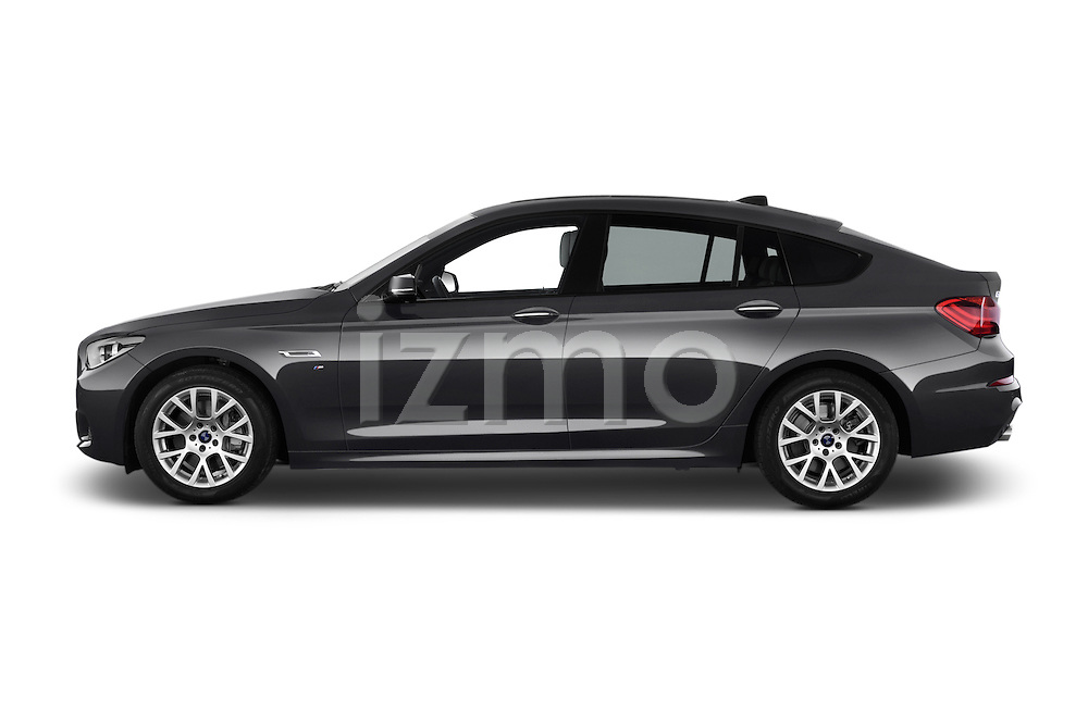 Car Driver side profile view of a2015 BMW SERIES 5 M Sport 2WD AT 5 Door Hatchback 2WD Side View