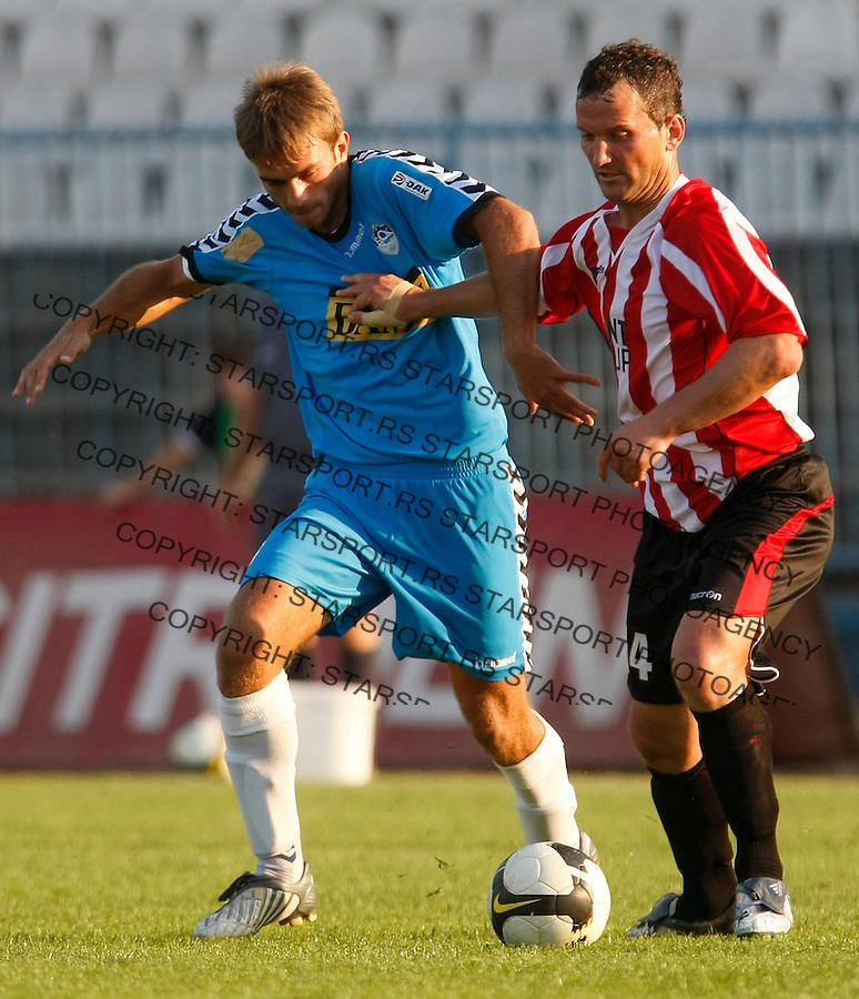 Fudbal, Lav Kup Srbije, season 2009-2010.BSK Borca Vs. Sevojno.Milos Milivojevic, left.Beograd, 09.23.2009..foto: Srdjan Stevanovic/Starsportphoto.com ©