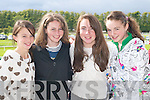 AT THE RACES: Laura Galvin, Megan Kiely, Honor Galvin and Kate Noonan at Killarney Races on Sunday.