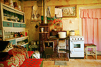 ROMANIA / Maramures / Budesti / October 2006..The kitchen in a traditional peasant home in one of the most traditional villages in Europe...© Davin Ellicson / Anzenberger