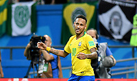 KAZAN - RUSIA, 06-07-2018: NEYMAR jugador de Brasil reacciona durante partido de cuartos de final entre Brasil y Bélgica por la Copa Mundial de la FIFA Rusia 2018 jugado en el estadio Kazan Arena en Kazán, Rusia. / NEYMAR player of Brazil reacts during the match between Brazil and Belgium of quarter final for the FIFA World Cup Russia 2018 played at Kazan Arena stadium in Kazan, Russia. Photo: VizzorImage / Julian Medina / Cont