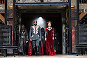 """London, UK. 22.06.2016.  Shakespeare's Globe presents """"Macbeth"""", by William Shakespeare, directed by Iqbal Khan.  Picture shows:  Ray Fearon (Macbeth), Tara Fitzgerald (Lady Macbeth).  Photograph © Jane Hobson."""