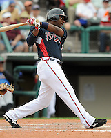 17 March 2009: Outfielder Brandon Jones of the Atlanta Braves in a game against the New York Mets at the Braves' Spring Training camp at Disney's Wide World of Sports in Lake Buena Vista, Fla. Photo by:  Tom Priddy/Four Seam Images