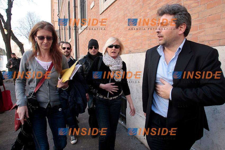 Laura Bottici, Sara Paglini, Massimo Artini.Roma 04/03/2013 Hotel St John. Vertice del Movimento 5 Stelle.Photo Samantha Zucchi Insidefoto