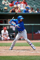 Iowa Cubs third baseman Stephen Bruno (11) at bat during a game against the Memphis Redbirds on May 29, 2017 at AutoZone Park in Memphis, Tennessee.  Memphis defeated Iowa 6-5.  (Mike Janes/Four Seam Images)