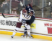 Danny Linell (BC - 10), Trevor van Riemsdyk (UNH - 6) - The Boston College Eagles and University of New Hampshire Wildcats tied 4-4 on Sunday, February 17, 2013, at Kelley Rink in Conte Forum in Chestnut Hill, Massachusetts.