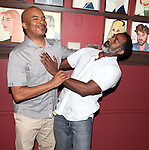 David Alan Grier & Norm Lewis.attending the celebration for Norm Lewis receiving a Caricature on Sardi's Hall of Fame in New York City on 5/30/2012