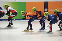 SHORTTRACK: DORDRECHT: Sportboulevard Dordrecht, 24-01-2015, ISU EK Shorttrack, Yara VAN KERKHOF (NED) | #138), Lara VAN RUIJVEN (NED | #139), ©foto Martin de Jong
