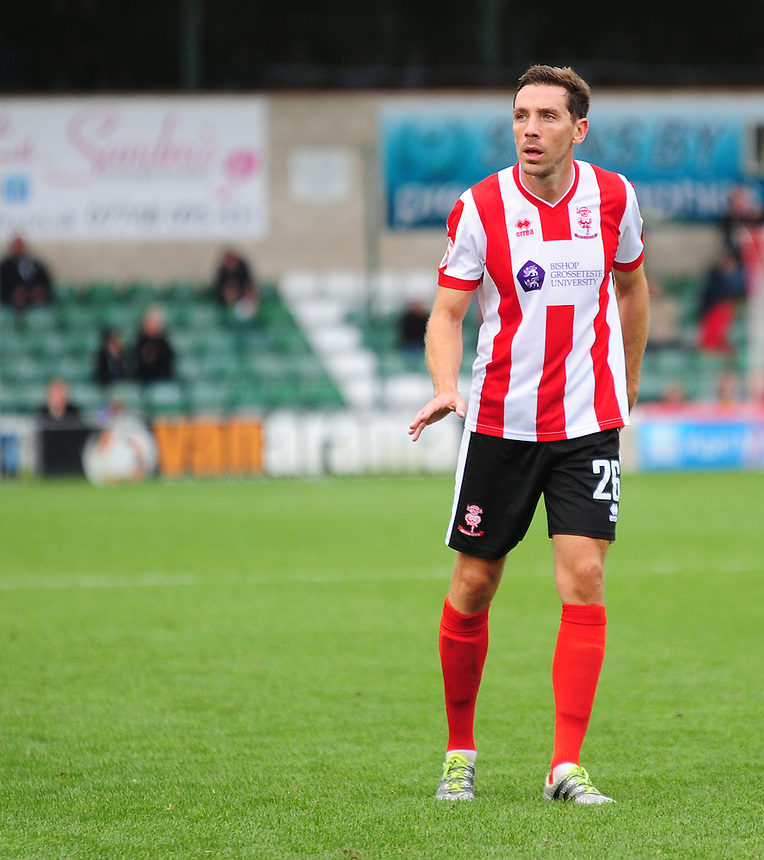 Lincoln City&rsquo;s Tom Champion<br /> <br /> Photographer Andrew Vaughan/CameraSport<br /> <br /> Vanarama National League - Lincoln City v Barrow - Saturday 17 September 2016 - Sincil Bank - Lincoln<br /> <br /> World Copyright &copy; 2016 CameraSport. All rights reserved. 43 Linden Ave. Countesthorpe. Leicester. England. LE8 5PG - Tel: +44 (0) 116 277 4147 - admin@camerasport.com - www.camerasport.com