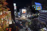 Night view from the roof top of Tokyu Plaza Omotesando Harajuku, the building after Gap flag shop in Omotesando, Tokyo