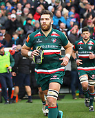 6th January 2018, Welford Road Stadium, Leicester, England; Aviva Premiership rugby, Leicester Tigers versus London Irish; Graham Kitchener (Tigers)  runs out at the start of the match