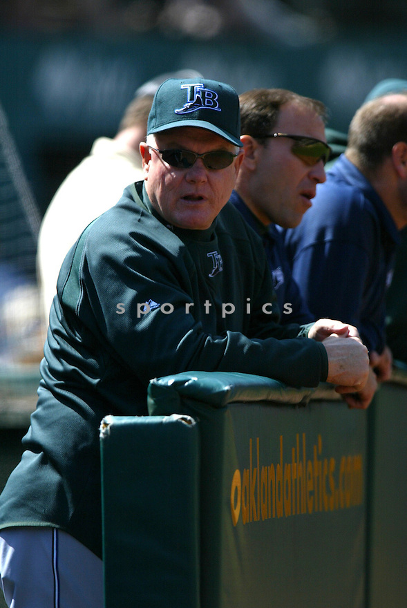 BILL EVANS, of the Tampa Bay Devil Rays , in action during the  Devil Rays game against the Oakland A's  on April 29, 2007 in Oakland, California..Devil Rays win 5-3...Rob Holt/ SportPics..