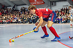 Mannheim, Germany, January 08: During the 1. Bundesliga men indoor hockey match between TSV Mannheim and Mannheimer HC on January 8, 2020 at Primus-Valor Arena in Mannheim, Germany. Final score 5-4. (Photo by Dirk Markgraf / www.265-images.com) *** Raphael Hartkopf #16 of Mannheimer HC