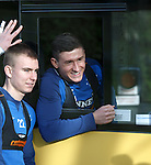 Fraser Aird tells Andy Mitchell he's not getting on his bus