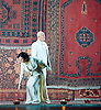 Lady Macbeth of Mtsensk<br /> by Dmitri Shostakovich <br /> English National Opera, London Coliseum, London, Great Britain <br /> rehearsal <br /> 24th September 2015 <br /> <br /> Patricia Racette as Katerina Lvovna Ismailova <br /> <br /> Robert Hayward as Boris Timofeyecich Ismailov <br /> <br /> Peter Hoare as Zinovy Borisovich Ismailov <br /> <br /> Paul Sheehan as Mill worker<br /> <br /> John Daszak as Sergei <br /> <br /> David Newman as Coachman <br /> <br /> Rosie Aldridge as Aksinya<br /> <br /> Adrian Thompson as Shabby Peasant <br /> <br /> Paul Sheehan as Porter<br /> <br /> Paul napper-burrows as Steward <br /> <br /> Murray Kimmins as First Foreman <br /> <br /> Anton Rich as second foreman <br /> <br /> Graeme Lauren as Third Foreman <br /> <br /> Graeme Danby as Priest <br /> <br /> Per Bach Nissen as Chief of Police <br /> <br /> Trevor Bowes as Policeman <br /> <br /> Richard Roberts as Teacher <br /> <br /> Geraint Hylton as drunken guest <br /> <br /> Matthew Best as old convict <br /> <br /> Ronald Nairne as Sentry <br /> <br /> Clare Presland as Sonyetka <br /> <br /> Rosie Aldridge as feamle convict <br /> <br /> <br /> workers, guest and convicts <br /> <br /> Photograph by Elliott Franks <br /> <br /> Image licensed to Elliott Franks Photography Services