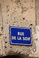 Europe/France/Midi-Pyrénées/32/Gers/Fources: Plaque de rue - Rue de la Soif