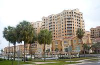 Condominiums located near the Gulf beach.  Clearwater Beach Tampa Bay Area Florida USA