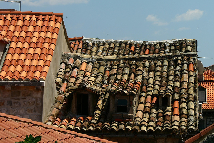 Old and new roofs.
