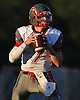 Connetquot quarterback No. 7 Jack Cassidy looks for an open receiver during the first quarter of a Suffolk County Division I varsity football game against Lindenhurst at Lindenhurst Middle School on Friday, September 18, 2015.<br /> <br /> James Escher