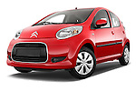 Low aggressive front three quarter view of a 2009 - 2012 Citroen C1 Airplay 5-Door Micro Car Hatchback