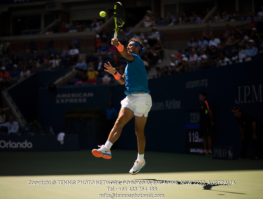 RAFAEL NADAL (ESP)<br /> <br /> TENNIS - THE US OPEN - FLUSHING MEADOWS - NEW YORK - ATP - WTA - ITF - GRAND SLAM - OPEN - NEW YORK - USA - 2016  <br /> <br /> <br /> <br /> &copy; TENNIS PHOTO NETWORK