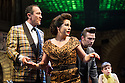 London, UK. 16.05.2014. Theatre Royal Stratford East presents FINGS AIN'T WOT THEY USED T'BE, starring Jessie Wallace, Gary Kemp and Mark Arden. Directored by Terry Johnson, with book by Frank Norman and Music & Lyrics by Lionel Bart. Picture shows: Mark Arden and Jessie Wallace (front), with Stefan Booth and Sarah Middleton (behind). Photograph © Jane Hobson.