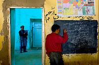 Girl student at Shaidan school.