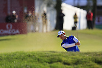 Daniel Im (USA) plays his 2nd shot from a fairway bunker on the 17th hole during Thursday's Round 1 of the 2017 Omega European Masters held at Golf Club Crans-Sur-Sierre, Crans Montana, Switzerland. 7th September 2017.<br /> Picture: Eoin Clarke | Golffile<br /> <br /> <br /> All photos usage must carry mandatory copyright credit (&copy; Golffile | Eoin Clarke)