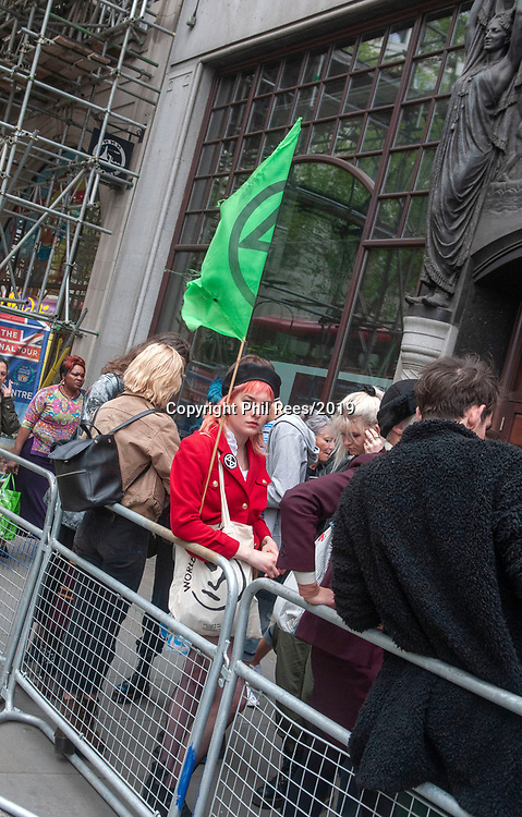 The Extinction Rebellion 'Carn-evil of Chaos' Fashion Parade at the Brazillian Embassy to show solidarity with the people of Brazil and their eco system. Pic by Lisa Dawson Rees