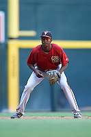 Arizona Diamondbacks Manny Jefferson (12) during an Instructional League game against the Oakland Athletics on October 15, 2016 at Chase Field in Phoenix, Arizona.  (Mike Janes/Four Seam Images)