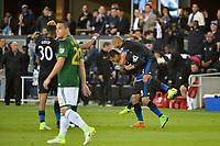 San Jose, CA - Saturday May 06, 2017: Chris Wondolowski celebrates scoring during a Major League Soccer (MLS) match between the San Jose Earthquakes and the Portland Timbers at Avaya Stadium.