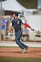 Yohandy Morales during the WWBA World Championship at the Roger Dean Complex on October 20, 2018 in Jupiter, Florida.  Yohandy Morales is a shortstop from Miami, Florida who attends Monsignor Edward Pace High School and is committed to Miami.  (Mike Janes/Four Seam Images)
