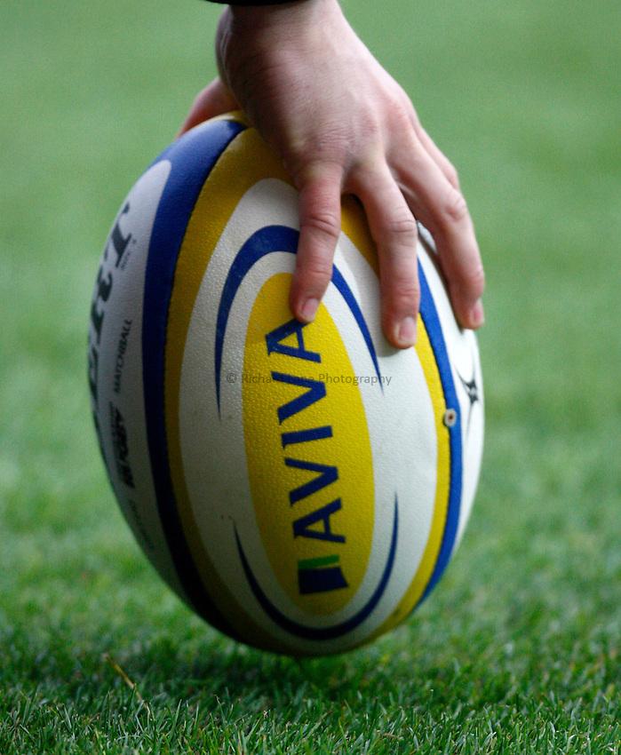 Photo: Richard Lane/Richard Lane Photography. Saracens v London Wasps. Aviva Premiership. 04/11/2012. Gilbert Rugby Ball.
