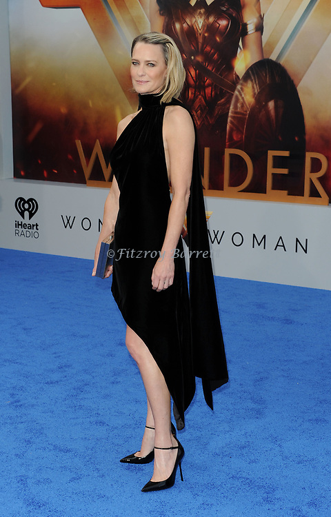 Robin Wright arriving at the Los Angeles world premiere of Wonder Women, held at the Pantages Theatre Hollywood, California on May 25, 2017