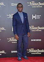 LOS ANGELES, CA. April 4, 2016. Actor David Oyelowo at the world premiere of &quot;The Jungle Book&quot; at the El Capitan Theatre, Hollywood.<br /> Picture: Paul Smith / Featureflash