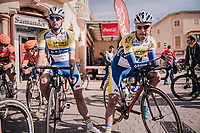 Preben Van Hecke (BEL/Sport Vlaanderen Baloise) &amp; Kevin Deltombe (BEL/Sport Vlaanderen Baloise) at the start<br /> <br /> 27th Challenge Ciclista Mallorca 2018<br /> Trofeo Campos-Porreres-Felanitx-Ses Salines: 176km