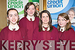 TOP THINKERS: The students of Scoil Mha?thair Dei?, Abbeyfeale enjoying the Chapter 23 of the Irish League of Credit Unions table quiz at the Gleneagle hotel, Killarney on Sunday l-r: Eimear Curtin, Aisling O'Connor, Andrea Collins and Ella Mulcahy.