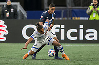 Foxborough, Massachusetts - October 28, 2018:  The New England Revolution (blue/white) beat Montreal Impact (white) 1-0 in a Major League Soccer (MLS) match at Gillette Stadium.