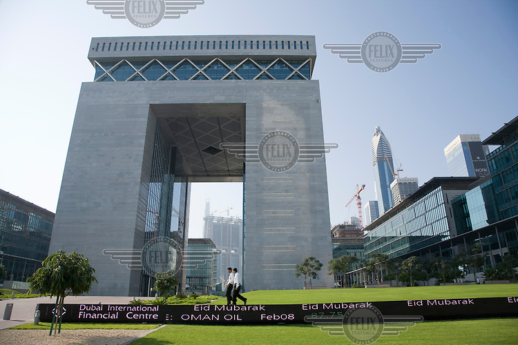 The Gateway of the Dubai International Financial Centre (DIFC), which was opened in 2004 and acts as a centre for banking, insurance and finance. The Dubai International Financial Exchange (DIFX) is contained in the complex.