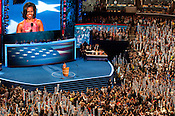 First Lady, Michelle Obama, addresses the DNC crowd at Time Warner Arena on Tuesday September 4th 2012.